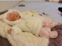 Reborn doll with magnetic dummy