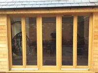 Solid oak, double glazed windows and door, as new, available owing to measurement error
