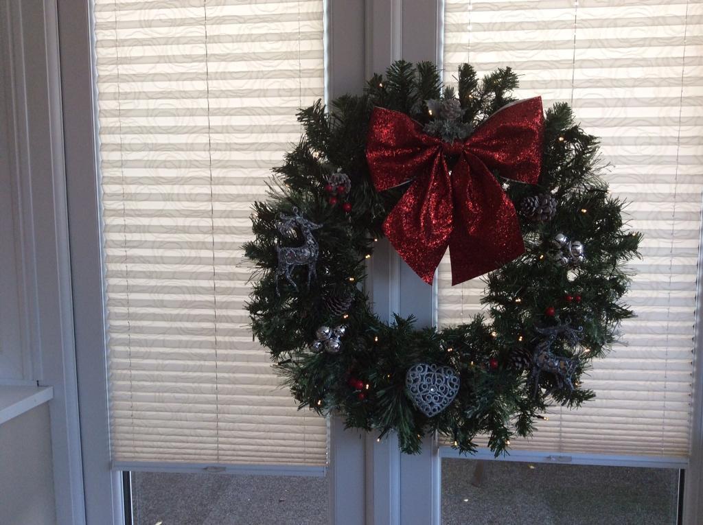 Large Lighted Christmas Wreath