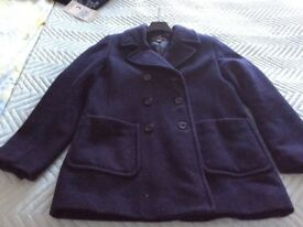 Ladies navy 3/4lengh jacket