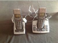 Two hand set BT freestyle Cordless telephones with answer machine