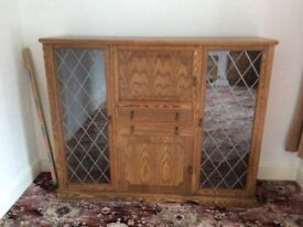 Classic sideboard style cupboard with glass doors and shelves