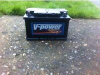 V power car battery basically brand new