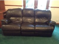 Leather Reclining Suite