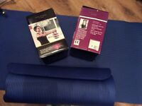 2 Kelly Holmes Adjustable Kettlebells And 2 Exercise mats