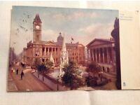 Vintage Postcard of Birmingham Art Gallery.