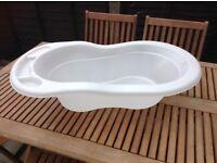 Plain white baby bath