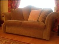 3-2-1 suite of furniture with footstool - good condition - bought in Fultons