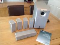 Yamaha 5.1 home cinema speaker system inc active subwoofer
