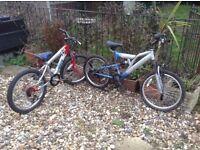 Children's mountain bikes x2