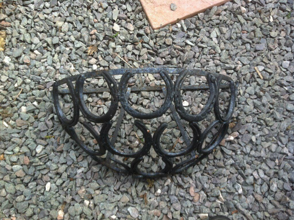Horse Shoe Black Metal Wall Planter Fab In Leicester