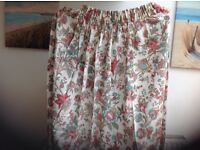 Pair of 100% Cotton Flowered Curtains