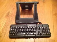 Laptop Stand and USB Microsoft 600 Keyboard for Laptop