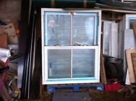 sash upvc new double glazed windows ,white , 3 sizes ,8 in total