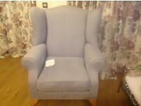 Laura Ashley Amethyst wing back armchair,in excellent condition still has tags rarely used