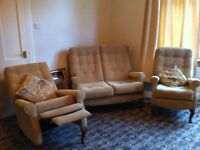 3pc suite with reclining chair