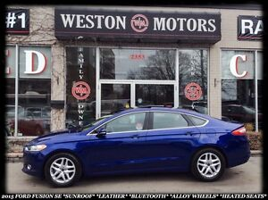 2015 Ford Fusion SE *SUNROOF *LEATHER *BT *ALLOY WHLS *HEATED SE
