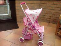 Little Princess baby dolls 4 wheel pushchair/buggy/stroller