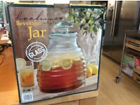Beehive style beverage jar