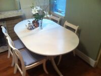 SHABBY CHIC TABLE and 4 chairs rustic/ farmhouse cottage