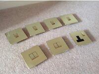 Brass light switches