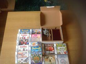 Nintendo DSi xl plus 14 games vgc