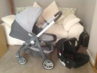 Graco Evo Avant travel system pushchair and carseat
