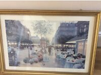 Large gold framed wall picture