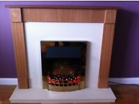 Wesley Electric Fire and Surround