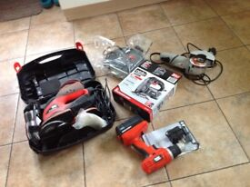 Power tools cordless drill, sander, angle grinder and jigsaw - all in very good condition