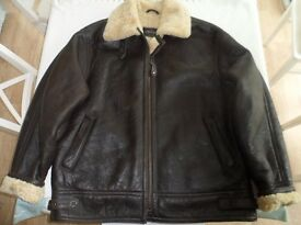 Lakeland Leather Shearling Aviator Jacket