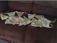 Various handmade /double sided bunting