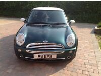 Mini Hatch 1.6 Cooper 3dr. Low mileage 54,643. British Racing Green. 2 lady owners from new. Petrol.