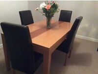 Dining table and chairs £75 only