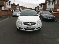 2007 Vauxhall Corsa 1.2 ,5dr hatchback petrol manual white colour 1 owner full service history £1495