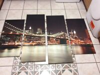 Large 4 piece canvas pictures