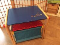 Children's Desk & Storage Stool £20