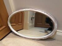 Oval mirror pre loved
