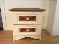 EXCELLENT SMALL TWO DRAWER BEDSIDE CABINET