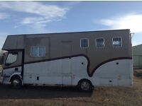 DAF 7.5 tonne horsebox for sale.Again readverised due to timewasters,PRICE REDUCED FOR QUICK SALE