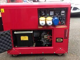 New silent 16 Kva diesel powered generator