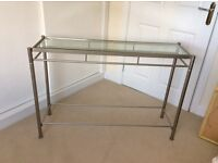 John Lewis glass topped console table