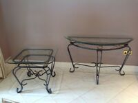 Coffee/lamp table & console table