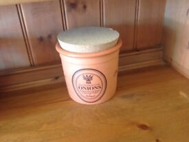 Terracotta onion storage jar