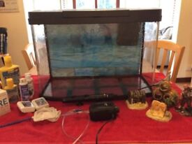 65 litre Love Fish Aquarium for sale with filter, air pump and heater.