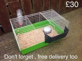 Indoor cage , guinea pigs , small rabbit