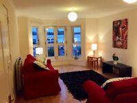 BEAUTIFUL, FULLY FURNISHED 2 BED FLAT IN WEST END,WITH PRIVATE PARKING