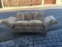 Beautiful elephant fabric well made sofa