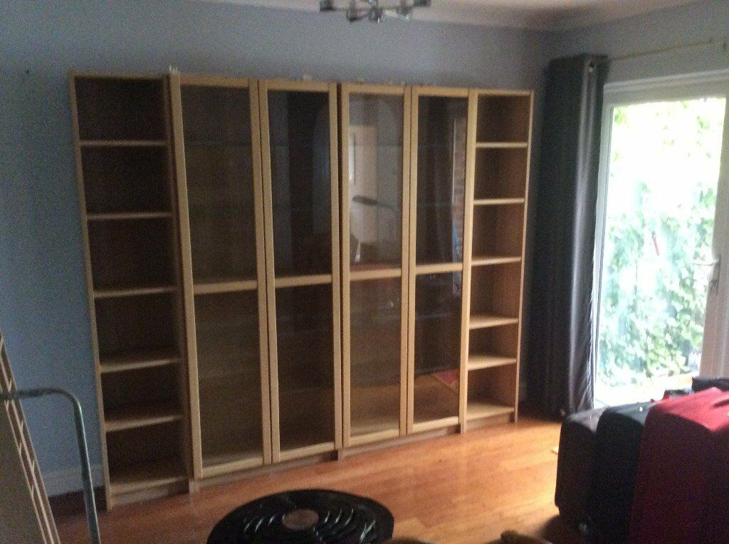 ikea billy oxberg range display cabinets and bookcases. Black Bedroom Furniture Sets. Home Design Ideas