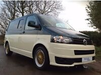 VW TRANSPORTER T5.1 KOMBI SPORT-SURF-MOTO-RACE VAN CUSTARD & GREEN